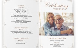 006 Rare Free Printable Celebration Of Life Program Template Image