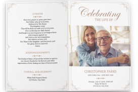 006 Rare Free Printable Celebration Of Life Program Template Image