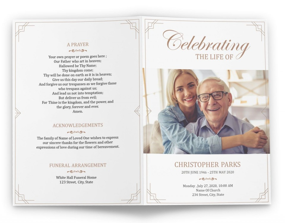 006 Rare Free Printable Celebration Of Life Program Template Image 960