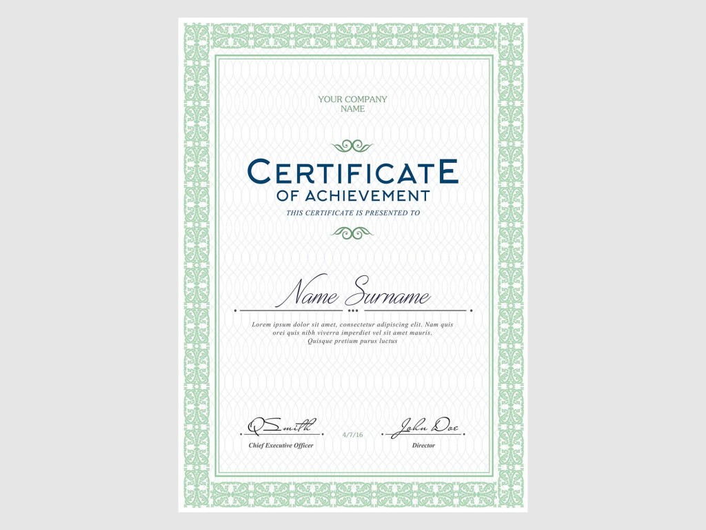 006 Rare Free Template For Certificate Concept  Certificates Online Of Completion Attendance Printable ParticipationLarge