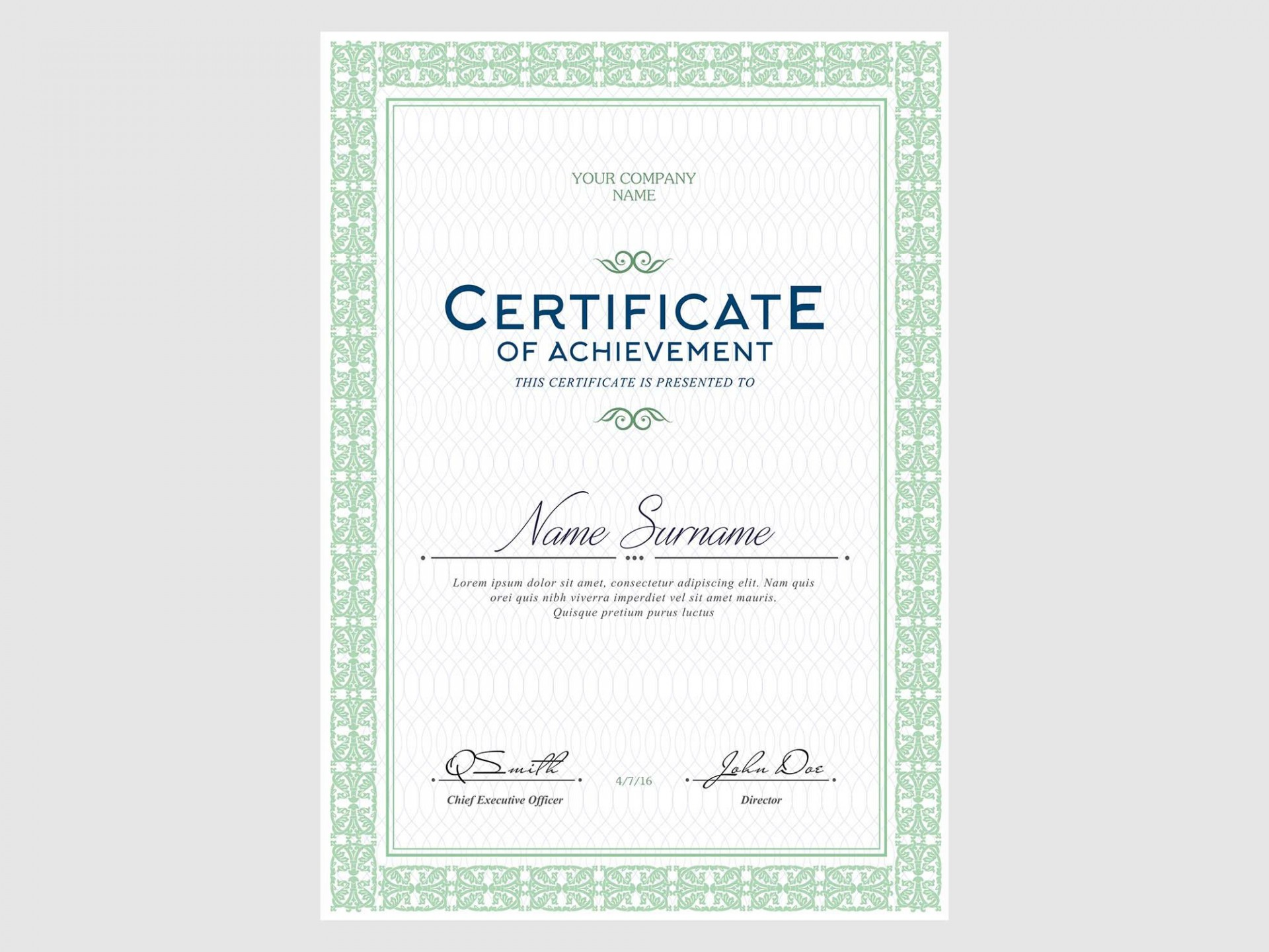 006 Rare Free Template For Certificate Concept  Certificates Online Of Completion Attendance Printable Participation1920