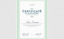 006 Rare Free Template For Certificate Concept  Certificates Online Of Completion Attendance Printable Participation