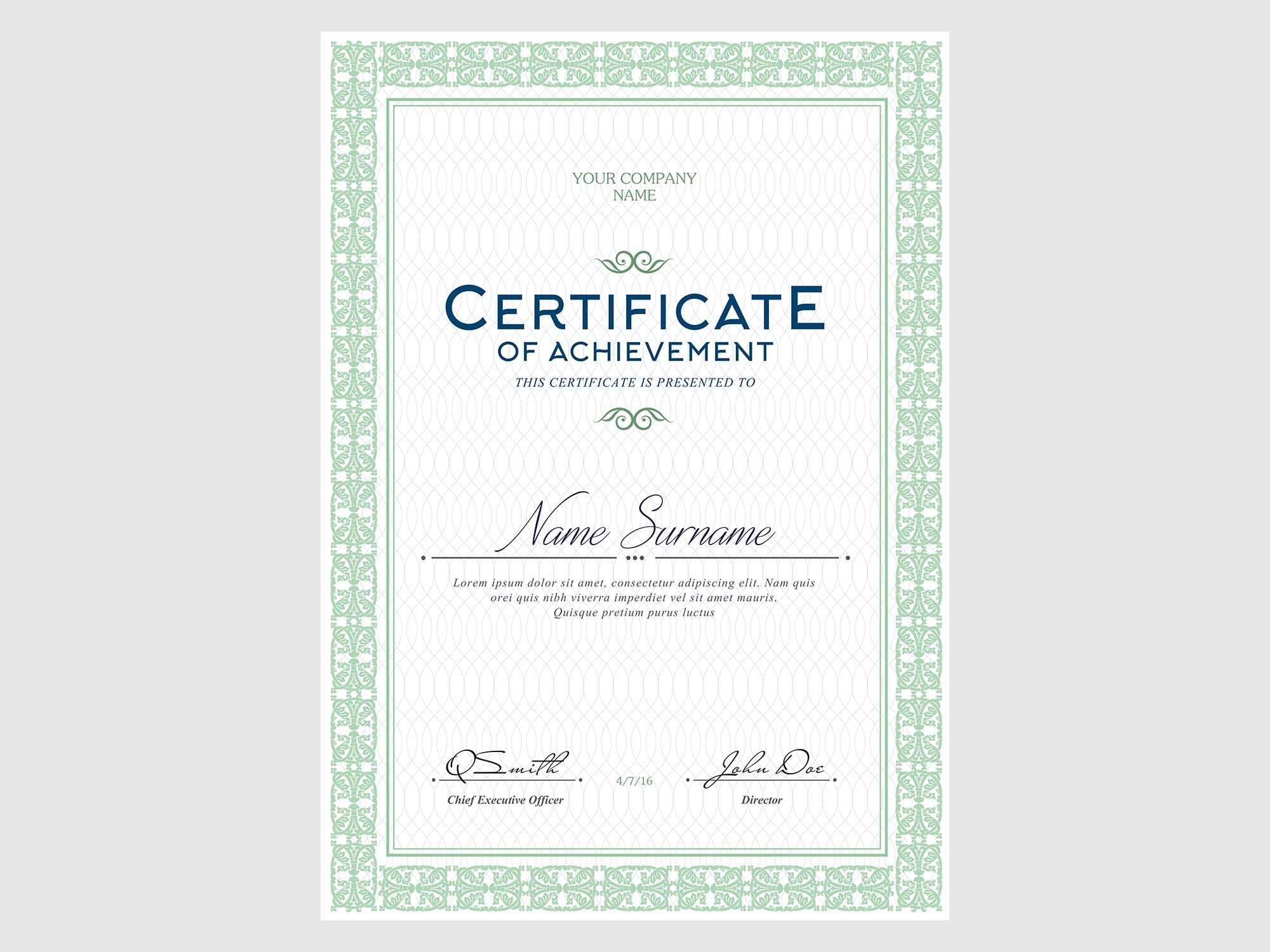 006 Rare Free Template For Certificate Concept  Certificates Online Of Completion Attendance Printable ParticipationFull