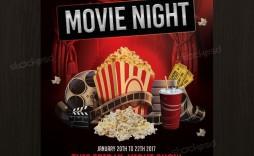 006 Rare Movie Night Flyer Template Inspiration  Editable Psd Free