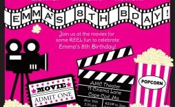 006 Rare Movie Ticket Invitation Template Photo  Blank Free Download Editable Printable