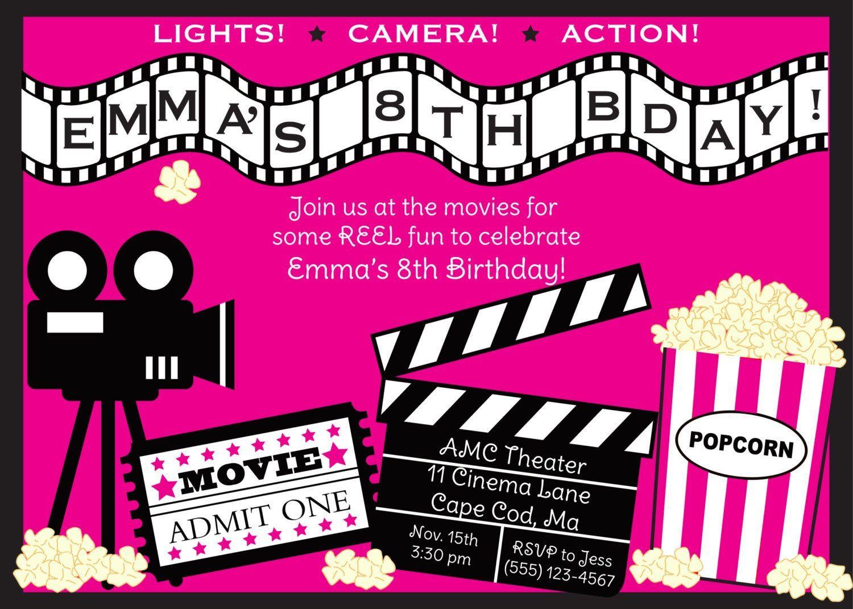 006 Rare Movie Ticket Invitation Template Photo  Blank Free Download Editable PrintableFull