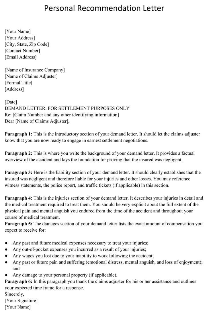 006 Rare Personal Reference Letter Of Recommendation Template Inspiration  Sample CharacterFull