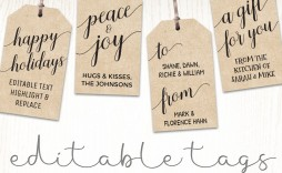 006 Rare Printable Christma Gift Tag Template High Definition  Templates Free Holiday For Word