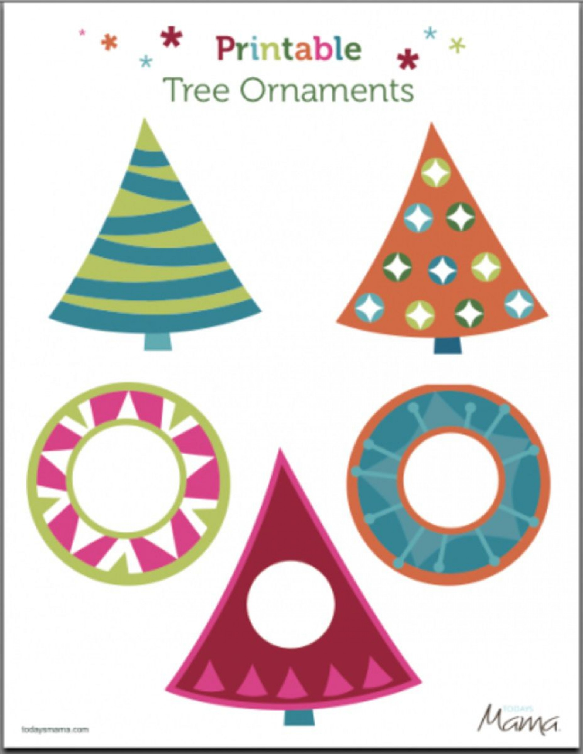 006 Rare Printable Christma Ornament Template Inspiration  Templates Stencil Felt Pattern Tree1920