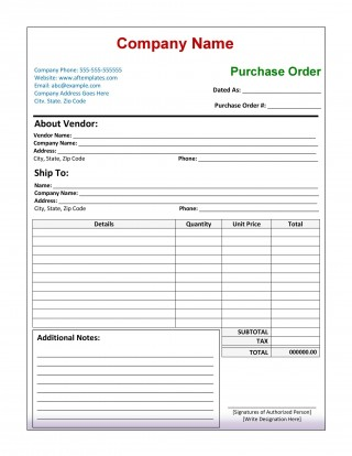 006 Rare Purchase Order Excel Template High Def  Vba Download Free320
