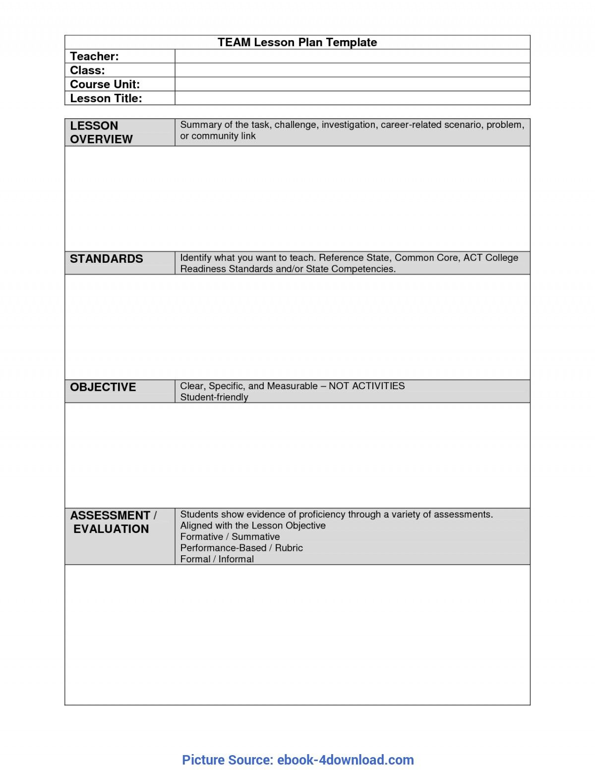006 Rare Unit Lesson Plan Template High Def  Word Thematic Example PdfFull