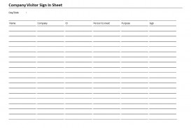 006 Rare Visitor Sign In Sheet Template High Resolution  Pdf Free Printable