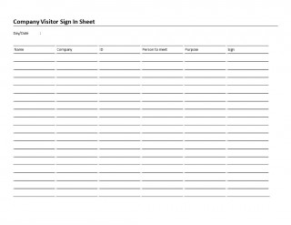 006 Rare Visitor Sign In Sheet Template High Resolution  Busines Pdf320