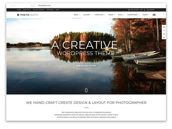 006 Rare Web Template For Photographer High Resolution  Photography728