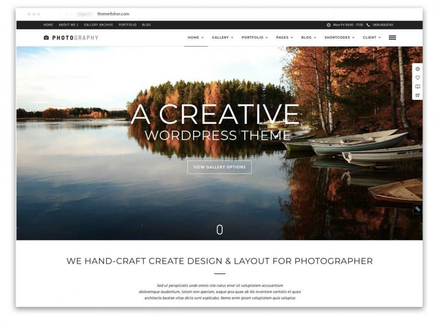 006 Rare Web Template For Photographer High Resolution  Photography868