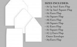 006 Remarkable A7 Envelope Liner Template Square Flap Inspiration