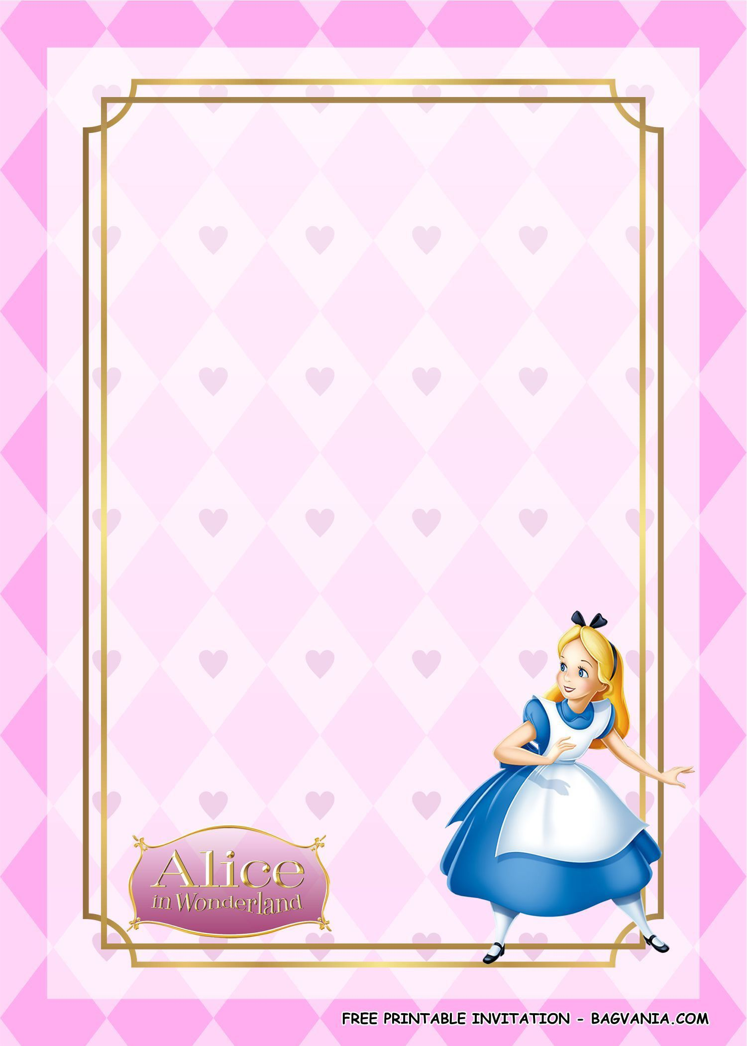 006 Remarkable Alice In Wonderland Party Template High Def  Templates Invitation FreeFull