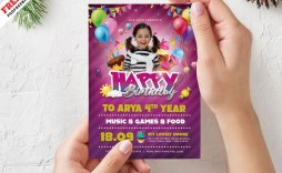 006 Remarkable Birthday Party Invitation Flyer Template Free Download High Def
