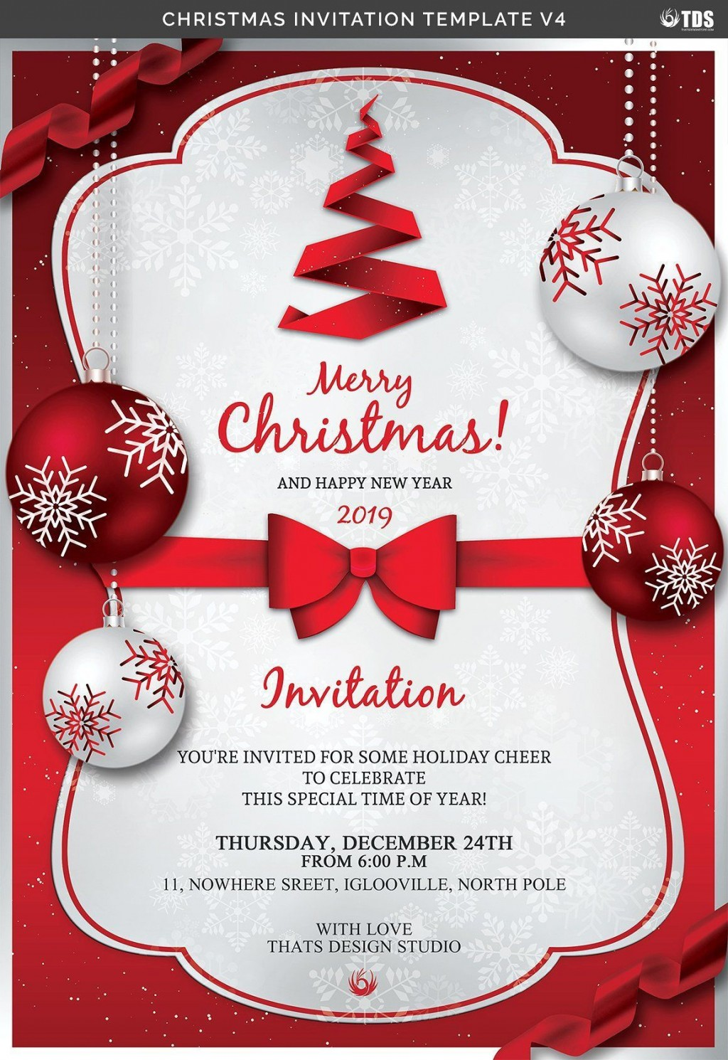006 Remarkable Christma Party Flyer Template Free Design  Company Invitation Printable WordLarge