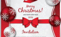 006 Remarkable Christma Party Flyer Template Free Design  Company Invitation Printable Word