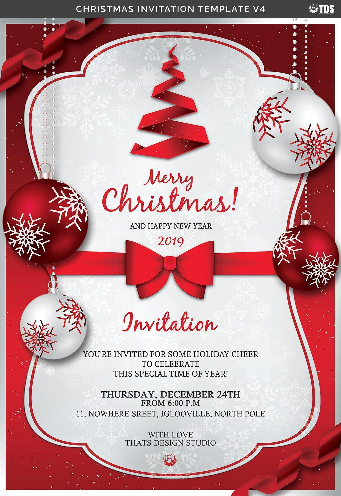 006 Remarkable Christma Party Flyer Template Free Design  Company Invitation Printable WordFull