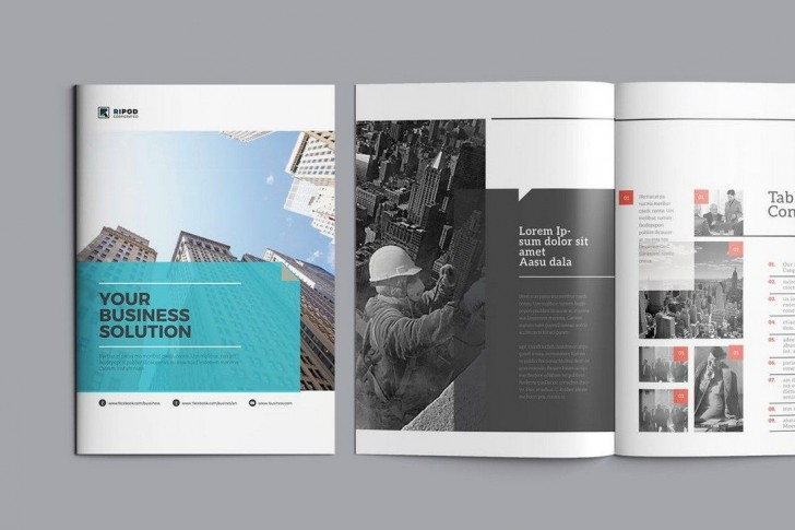 006 Remarkable Corporate Brochure Design Template Psd Free Download Photo  Hotel728