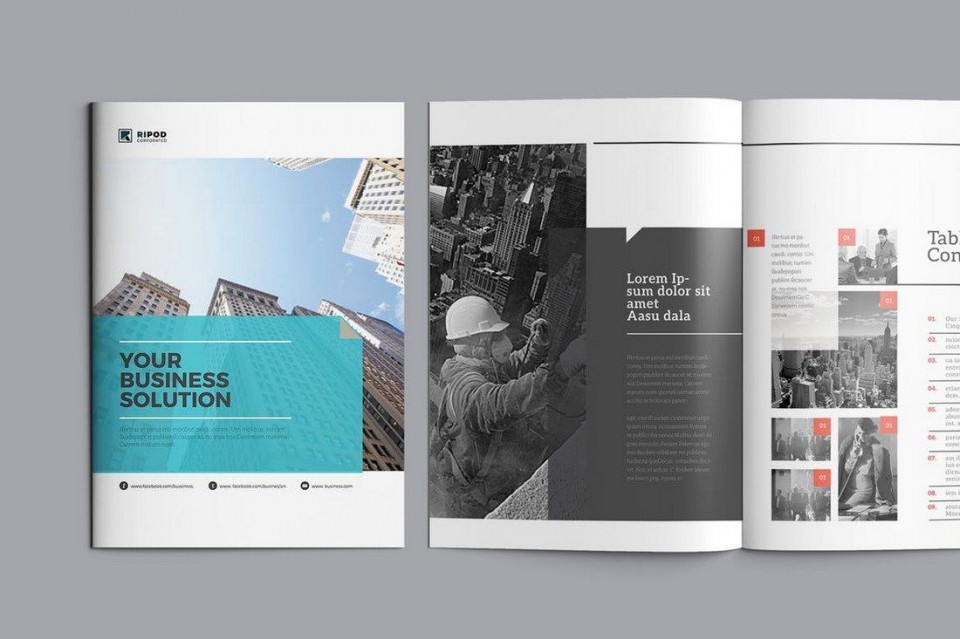 006 Remarkable Corporate Brochure Design Template Psd Free Download Photo  Hotel960