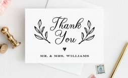006 Remarkable Diy Wedding Thank You Card Template Example  Templates