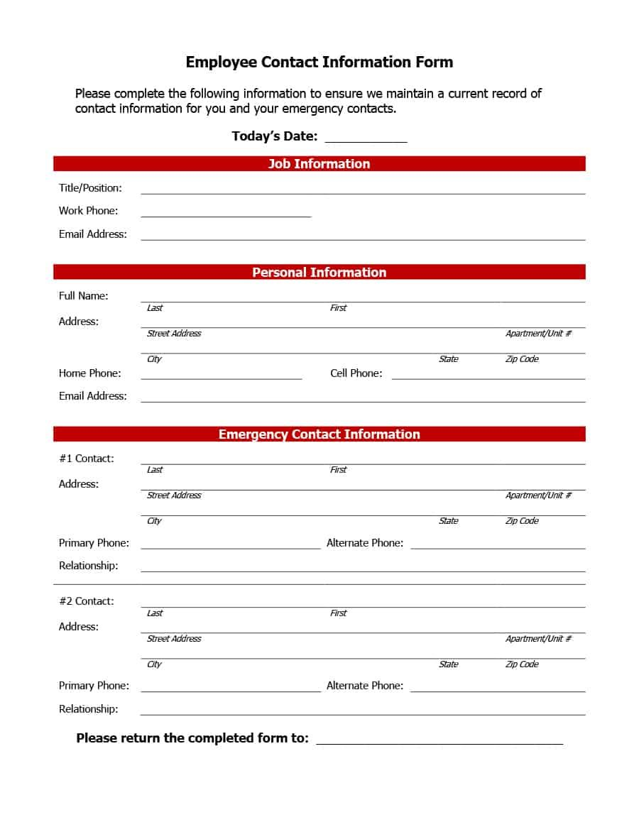 006 Remarkable Emergency Information Card Template Highest Clarity  Contact Free For ChildFull
