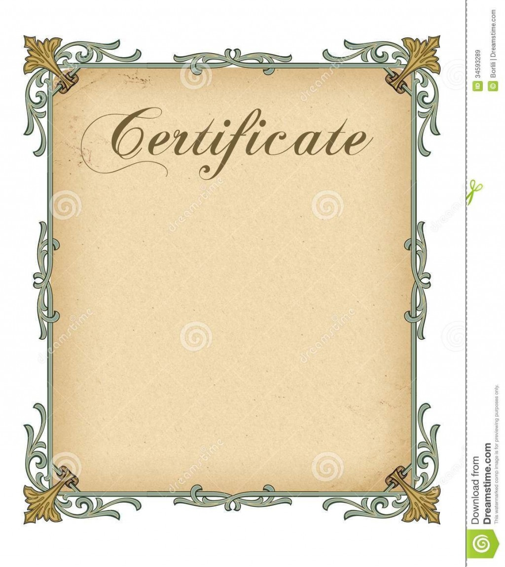 006 Remarkable Free Blank Certificate Template Example  Templates Downloadable Printable And Award Gift For WordLarge