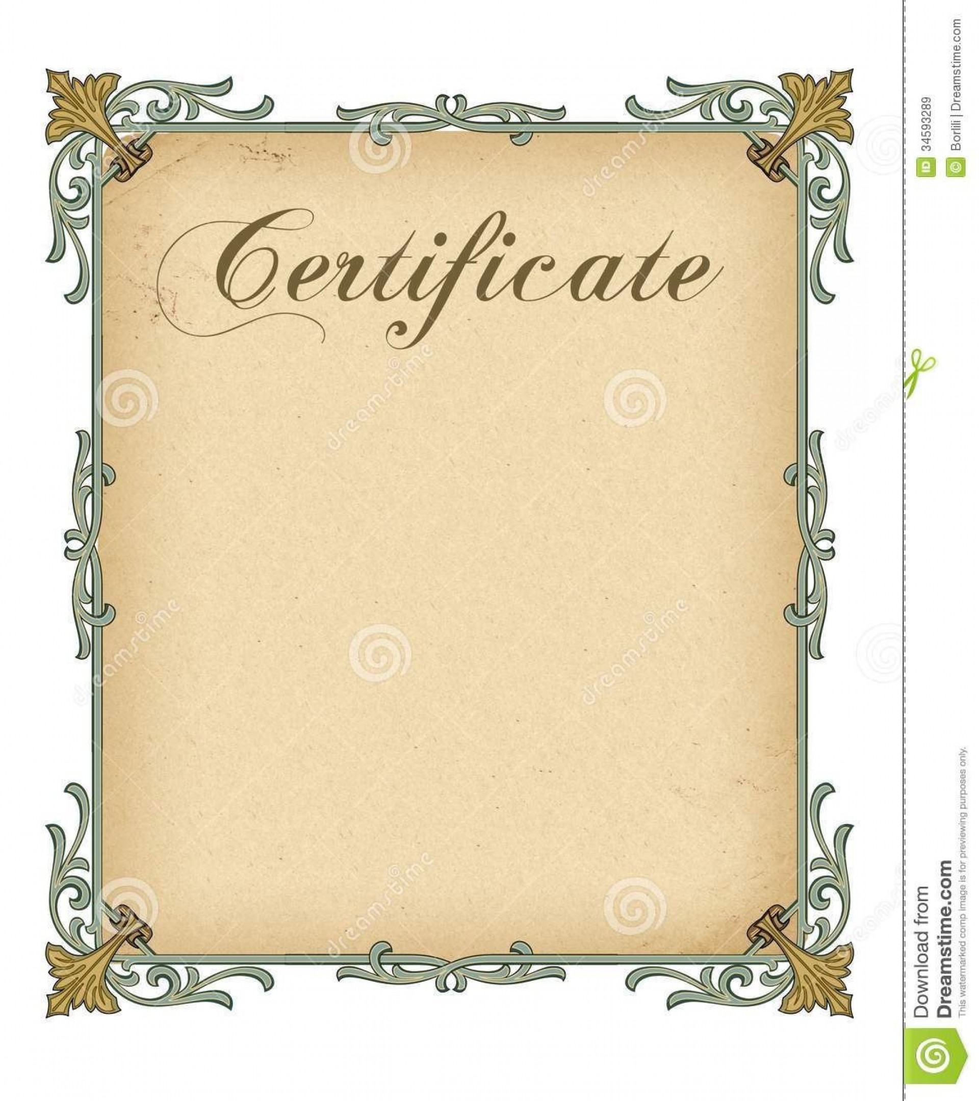 006 Remarkable Free Blank Certificate Template Example  Templates Downloadable Printable And Award Gift For Word1920