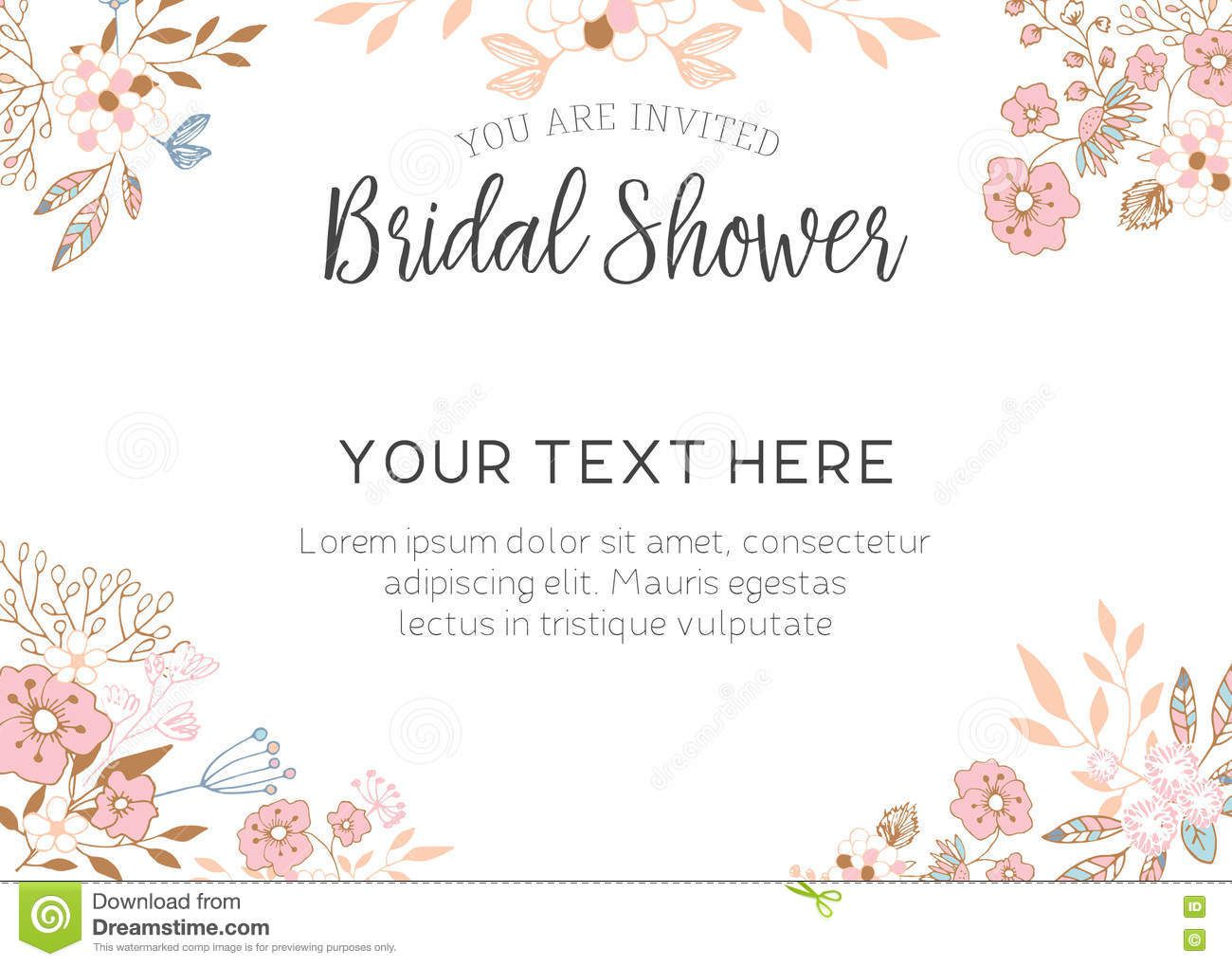 006 Remarkable Free Bridal Shower Invite Template Highest Clarity  Templates Invitation To Print Online Wedding For Microsoft WordFull