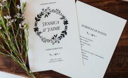 006 Remarkable Free Download Template For Wedding Program High Def  Programs