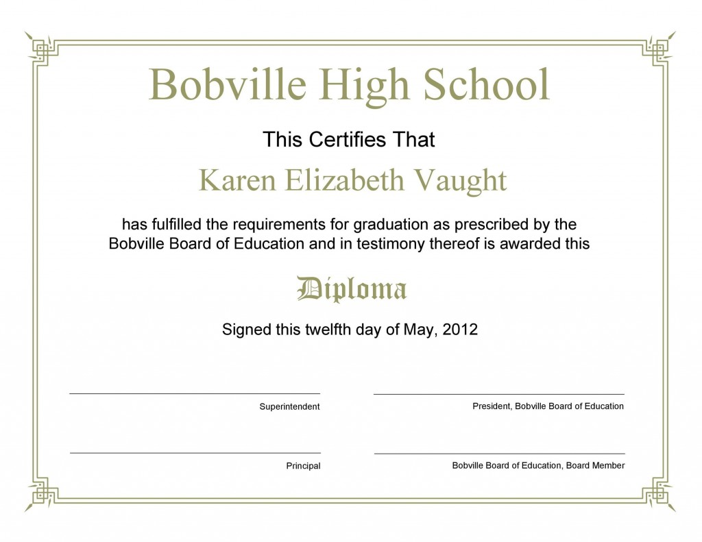 006 Remarkable Free Editable High School Diploma Template Picture  Templates Printable With Seal FillableLarge