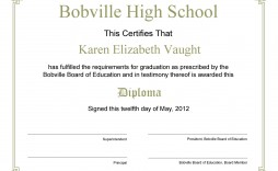 006 Remarkable Free Editable High School Diploma Template Picture  Templates Printable With Seal Fillable