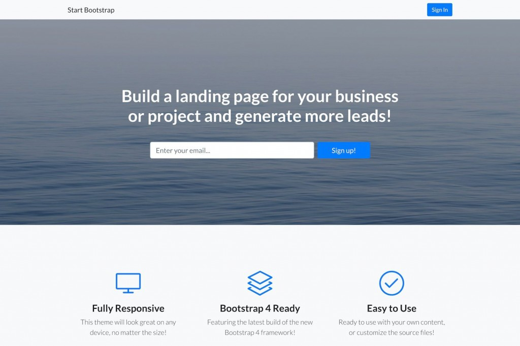 006 Remarkable Free Landing Page Template Bootstrap Idea  3 Html5 2019Large