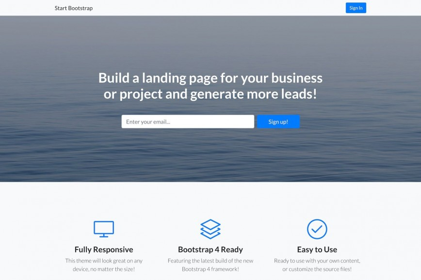 006 Remarkable Free Landing Page Template Bootstrap Idea  3 Download