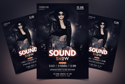 006 Remarkable Free Party Flyer Template For Photoshop High Definition  Pool Psd Download480