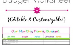006 Remarkable Free Printable Blank Monthly Budget Sheet Image  Sheets Worksheet Template