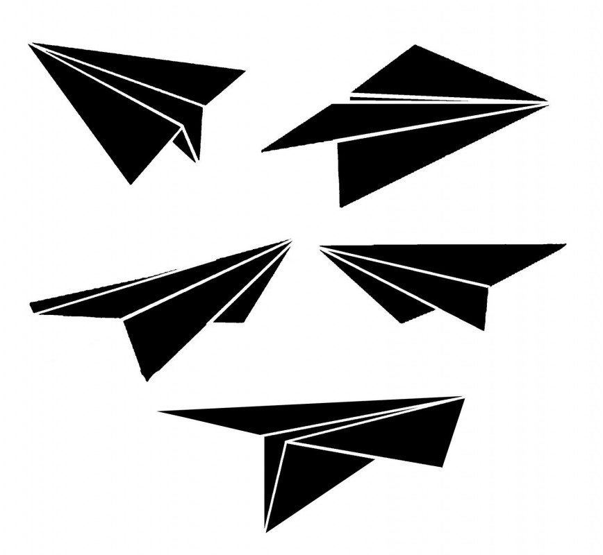 006 Remarkable Free Printable Paper Airplane Pattern High Def  Patterns Plane Design