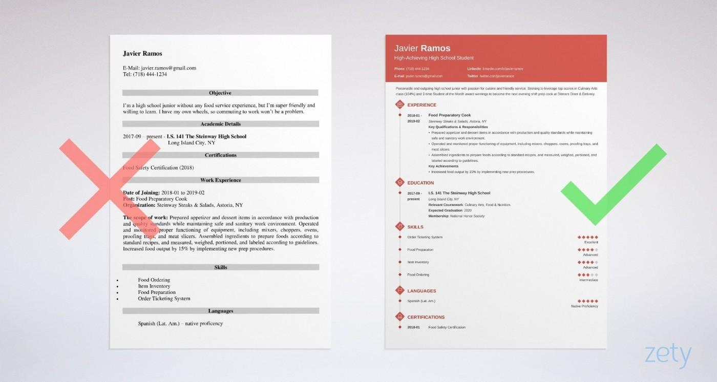 006 Remarkable High School Student Resume Template Idea  Free Google Doc1400