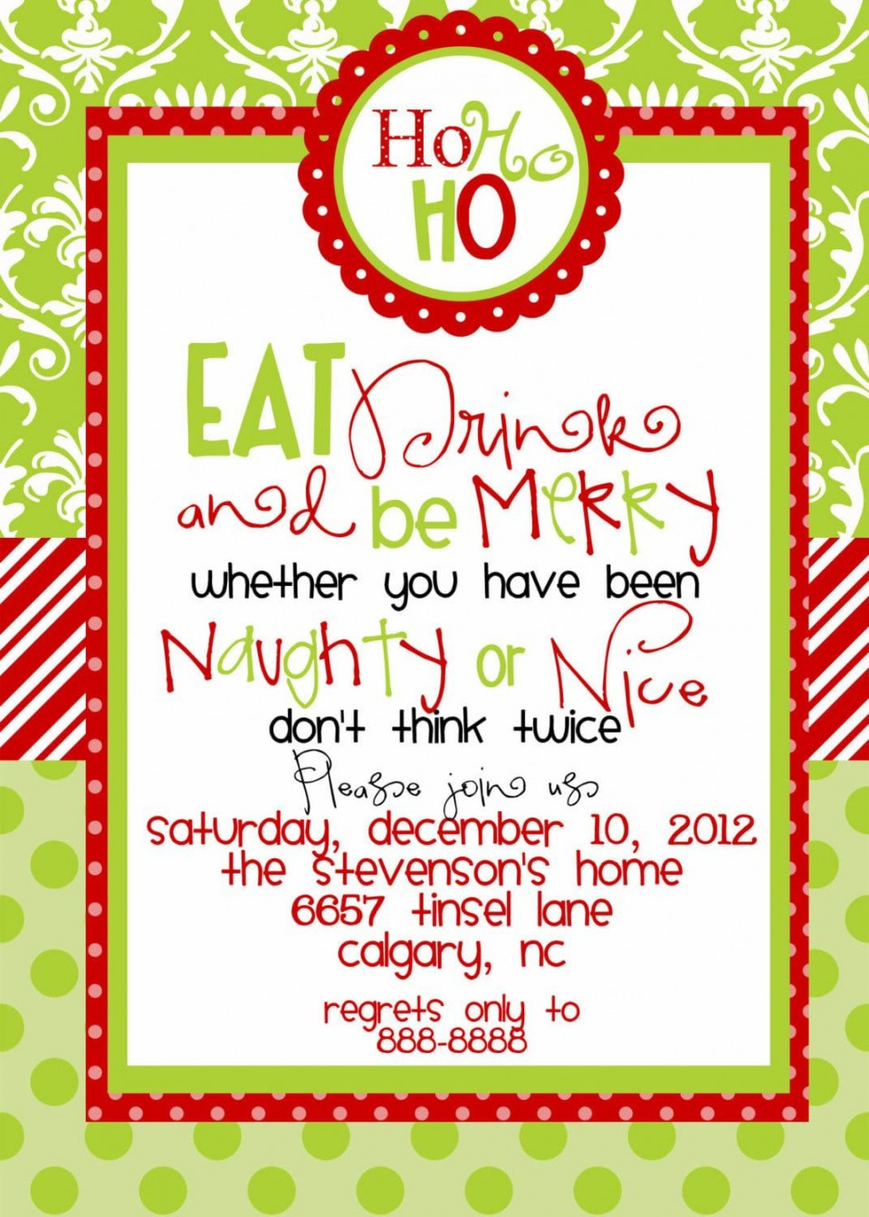 006 Remarkable Holiday Party Invitation Template Free Design  Elegant Christma Download Dinner Printable Australia960