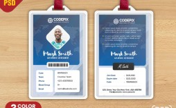 006 Remarkable Id Badge Template Photoshop Highest Quality  Psd Employee