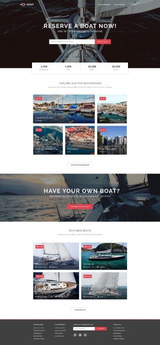006 Remarkable One Page Website Template Psd Free Download Idea 320