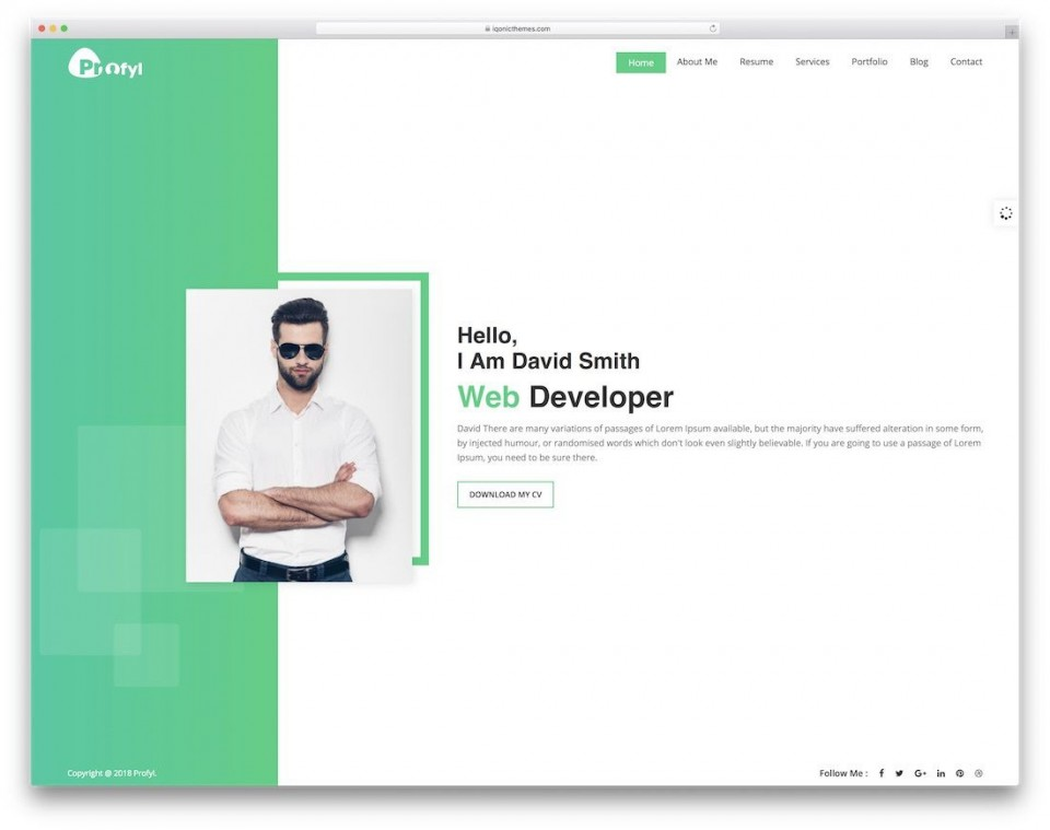 006 Remarkable Personal Website Template Bootstrap Sample  4 Free Download Portfolio960