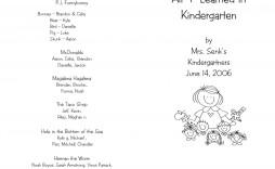 006 Remarkable Preschool Graduation Program Template High Def  Templates Free Printable Pdf