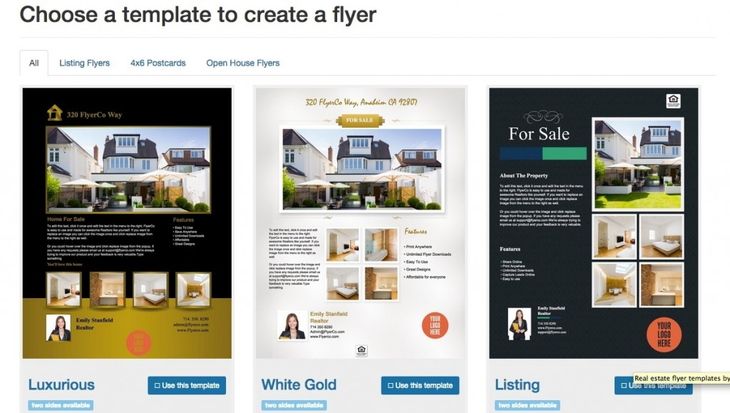 006 Remarkable Real Estate Marketing Flyer Template Free Example Large