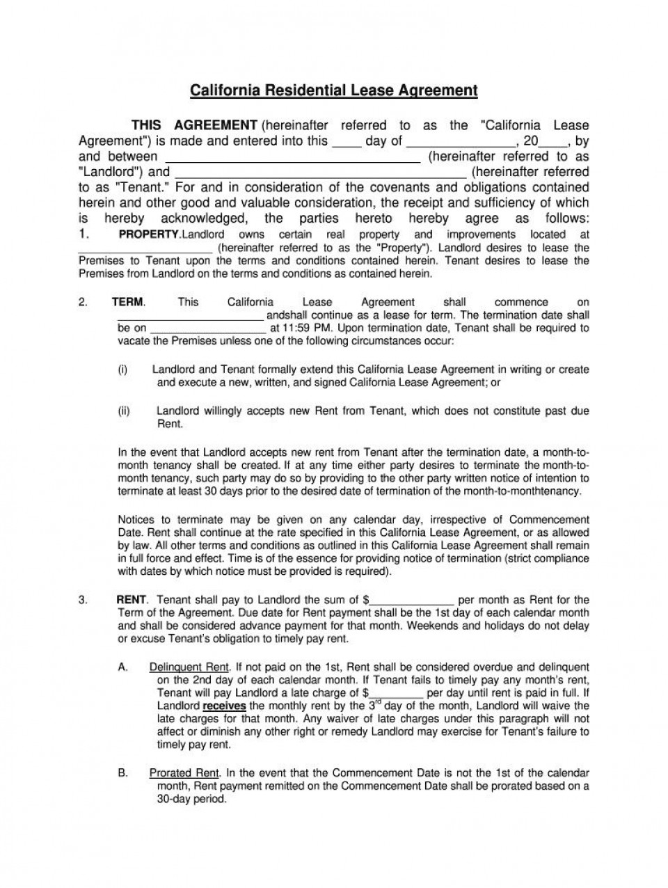 006 Remarkable Residential Lease Agreement Template Design  Tenancy Form Alberta California960