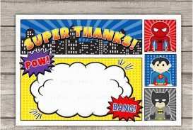 006 Remarkable Superhero Invitation Template Free Picture  Newspaper Party Birthday Invite