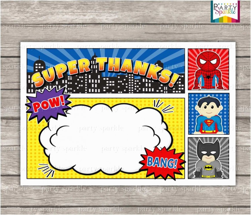 006 Remarkable Superhero Invitation Template Free Picture  Birthday Party868